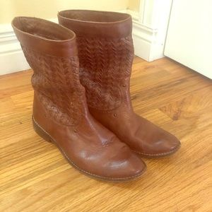 Frye woven leather boots 7.5